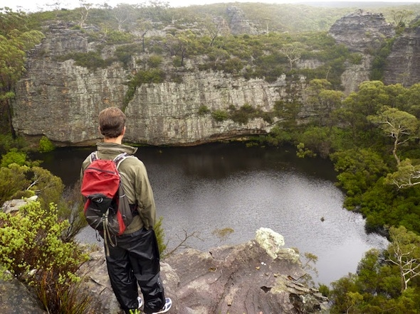 A hidden lake in Wollemi National Park
