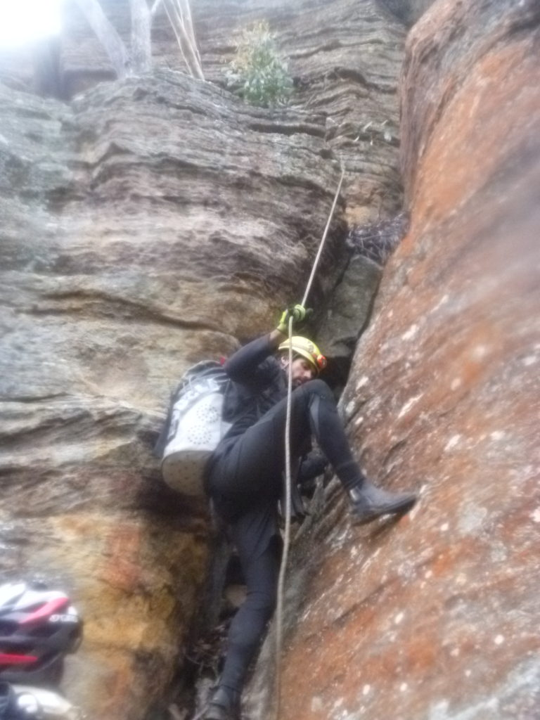 Felix and Leo found routes up through the first line of cliffs